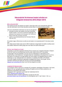 Nieuwsbrief Arnhemse brede scholen